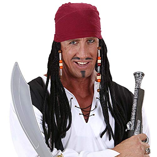 WIDMANN - Bandana Pirata con Capelli Dreadlocks