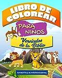 Libro de colorear versículos de la biblia para niños: Divertido e Inspiracional: Libro de Colorear V...