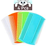 Flea Comb for Cats, 4 Pcs Lice Comb for Dogs, Double Sided Cat Comb for Short Hair of Pets or Humans by MoHern