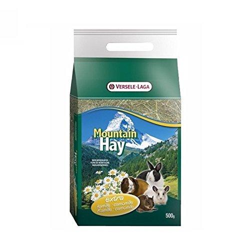 Versele-Laga Mountain Hay, 500 gr, Heu aus Hochgebirgen für Kaninchen und Nager (Kamille)