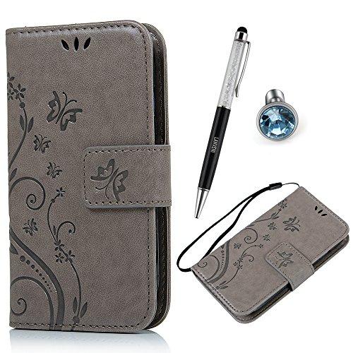 Mini Lanveni Samsung galassia S3 i8190 PU pubblichi in pelle chiusura ad aletta a portafoglio teiefono-scatola rigida Slot Card pelle sintetica ilportafoglio