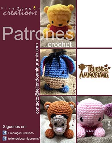 Set de Patrones Amigurumi basados en Winnie Pooh (Español)