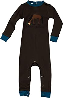 LazyOne Pasture Bedtime Baby Sleepsuit (18 Months) (Brown/Blue)