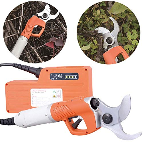 Buy Discount Xiaokeai Electric Gardening Pruning Shear, 36V Rechargeable Trimmer Secateurs Scissors,...