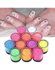 Nail Art Fluorescerend Poeder, 12 Kleuren Zomer Nail Dip Poeder Set, Kleur Nail Pigments Dust Nail Glitter, Halloween Nail Art DIY Fluorescerende Poeder Manicure Tool