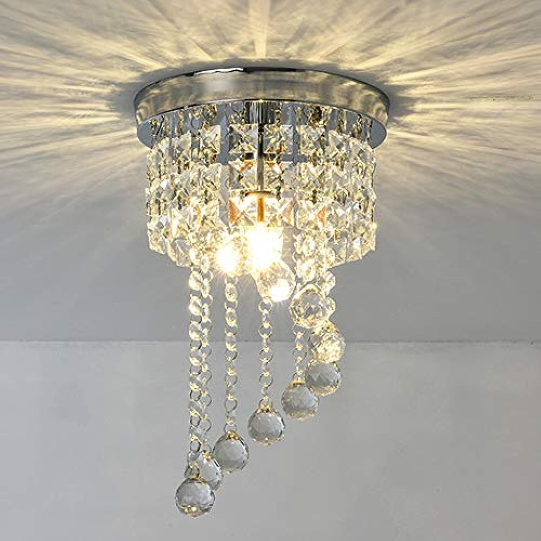 MQW LED K9 Kristall Runde Deckenleuchte Gelb Warmes Licht Kronleuchter Esszimmer Wohnzimmer Studie Schlafzimmer Einfache Moderne Kreis Das Leben verschnern
