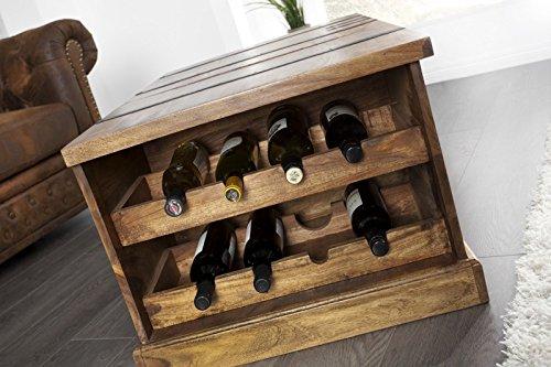 DuNord Design Couchtisch Hausbar Bonaire 100cm Palisander Sheesham Massivholz Truhe Bar - 6