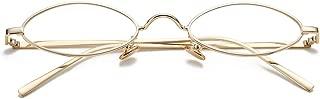 Vintage Small Oval Sunglasses for Women Men Hippie Cool Metal Frame Sun Glasses
