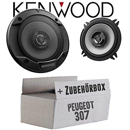 Lautsprecher Boxen Kenwood KFC-S1366-13cm 2-Wege Koax Auto Einbauzubehör - Einbauset für Peugeot 307 - JUST SOUND best choice for caraudio