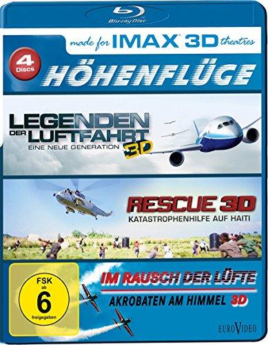 IMAX: Höhenflüge ( Legenden der Luftfahrt 3D - Eine neue Generation / Rescue 3D - Katastrophenhilfe auf Haiti / Im Rausch der Lüfte 3D - Akrobaten am Himmel )[3D Blu-ray]