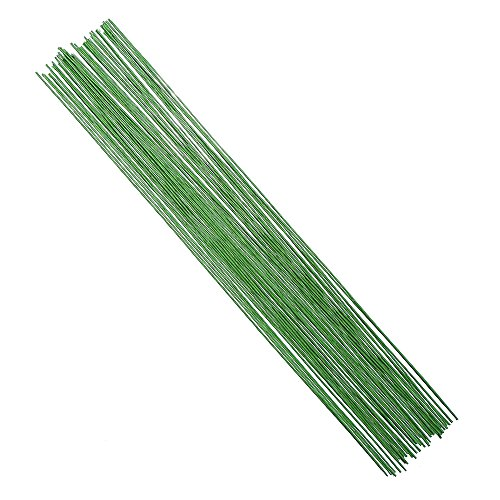 DECORA 18 Gauge Green Floral Stem Wire for Artificial Flower Making 16 inch,50/Package