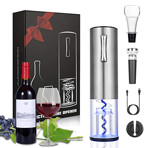 Anpro Electric Wine Opener, Rechargeable Corkscrew with USB charging...
