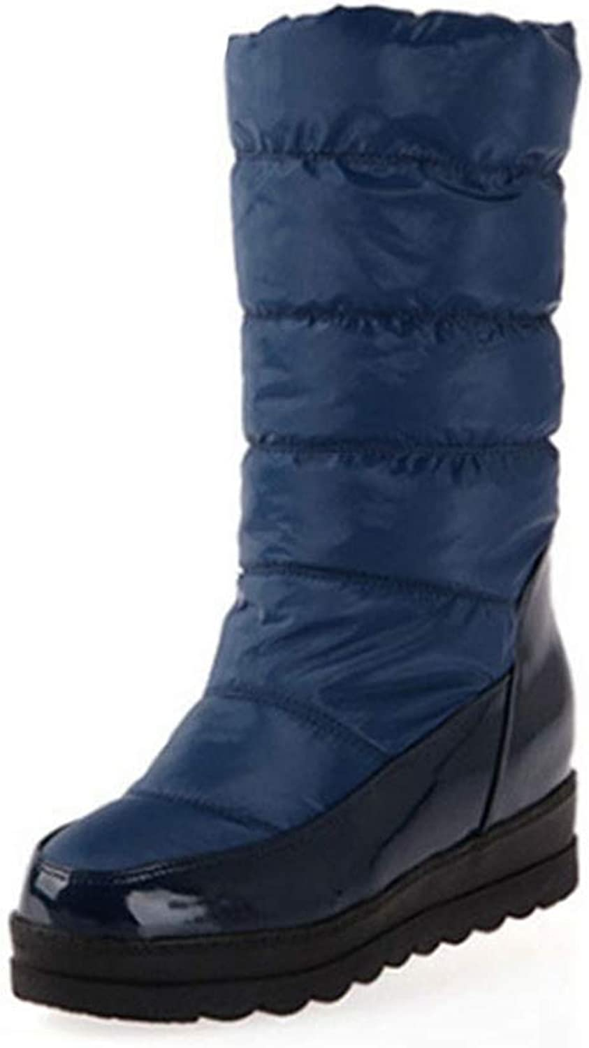 9e6c90aacfb13 Women Snow Boot Winter Ankle Warm Boot Round Toe Platform Waterproof ...