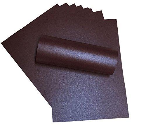 10x A4Nachtclub Lila Herzblume Majestic Perlglanz Papier 120g/m² geeignet für Inkjet und Laser Drucker