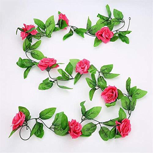 Kunstbloemen Roos Nepbloem zijde Rozen Wijnstok plastic Planten nepbloem voor bruiloft thuis Garland decor roos, meihong