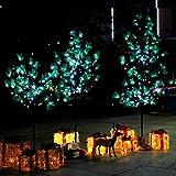 CCLIFE LED Kiefern Baum innen Außen Weihnachten Christbaum Lichterbaum warmweiss Kaltweiß Weihnachtsbeleuchtung, Farbe:Kaltweiß, Größe:150cm mit 120LEDs