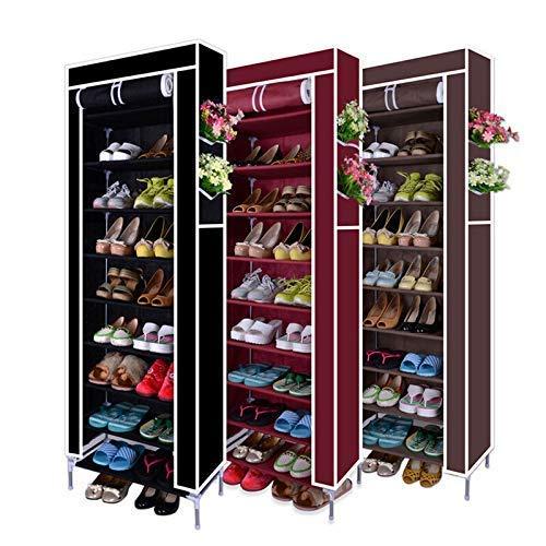 Accesorios de Suministros de Oficina Wghz 10 Niveles 27 Pares Armario para Zapatos Armario en Torre Organizador de Almacenamiento Zapatero