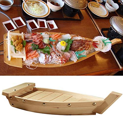 Vassoio da portata per sushi e barche in legno, per servire piatti da tavola, ristorante, bar, sushi, barca, piatti giapponesi fatti a mano, piatti da portata, S
