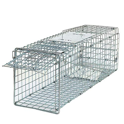 Smartxchoices 24'' Long Live Animal Trap Steel Cage Catch and Release One Door Humane Rodent Cage...