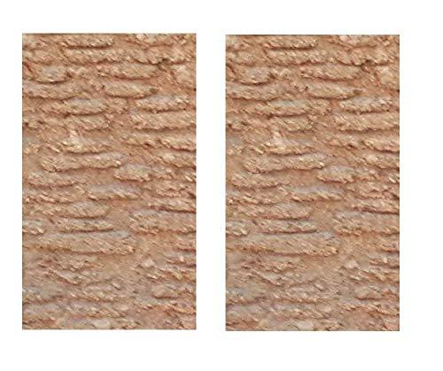 Generico ricevi 2 Pannelli Mattoni Romani di Sughero 33x25 cm Spessore 10 mm Foglio Pannello per PASTORI PRESEPE San Gregorio ARMENO Artigianali sheperds Crib