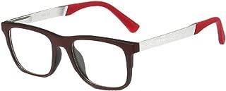 Inlefen Men's Square frame Optical glasses Retro Women's Resin lenses Glasses