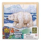 Wild Republic FSC-88023 - Puzzle de Madera, Madera FSC Mezclado, 20 Partes, Motivo Oso Polar