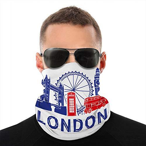 fgdhfgjhdgf Unisex Microfiber Neck Gaiter Cover Mask Bandana London Travel Head Wear Cover Mask