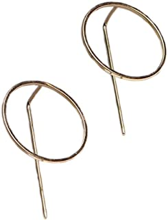 VPbao 1 Pair Simple Women Copper Hollow Out Circle Ear Stud Earrings Set
