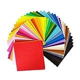 LQKYWNA 40 Láminas De Tejido De Fieltro Color, 20x30 Cm Suave Colorido Mano Material del Remiendo De Costura De Muñecas Artesanales Adornos Colgantes De Bricolaje
