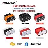 Boyfriend Cardig Escáner de diagnóstico de fallas de coche KW903 Bluetooth OBD, herramienta de escaneo de diagnóstico automático Bluetooth Android, compatible con todos los protocolos OBD2