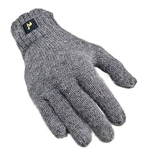 L-GRAU Handschuhe Nevada Uni 100% Baby Alpaka