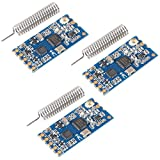AITRIP 3PCS HC-12 433Mhz SI4463/SI4438 Wireless Serial Port Module 1000M Replace Bluetooth with Antenna