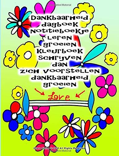 Dankbaarheid dagboek notitieboekje leren groeien kleurboek schrijven dan zich voorstellen dankbaarheid groeien
