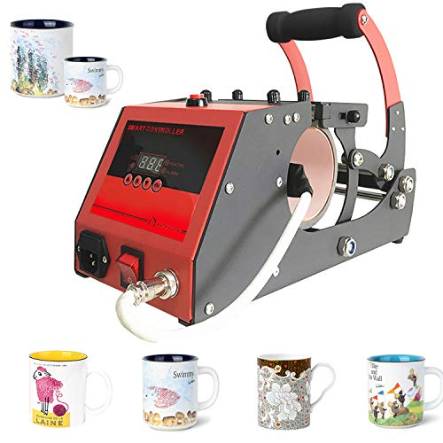 Mug Press Heat Machine Mug Press Sublimation Cup Mug Heat Press Transfer Printing Machine for Coffee Mugs Cups with One Stainless Steel Mug Attachment 11OZ O BOSSTOP