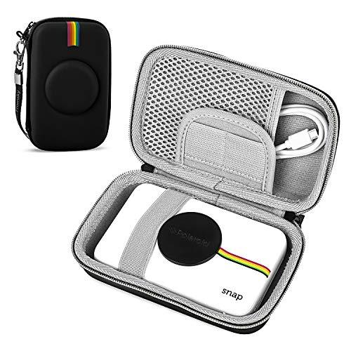 Funda para cámara digital de impresión instantánea Polaroid Snap & Snap Touch, funda de viaje funda protectora bolsa de almacenamiento (negro)