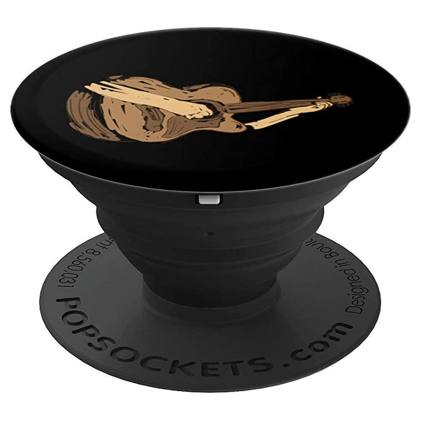 Acoustic Guitar Player Design | Great Guitarist or Band Gift - PopSockets Grip and Stand for Phones and Tablets