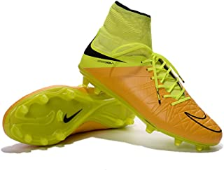 Fandire Shoes Mens Football Soccer Boots Leather Hypervenom Phantom II FG