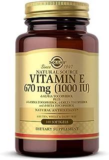 Solgar Vitamin E 670 mg 1000 IU Mixed Softgels Natural Antioxidant Skin Immune System Support NaturallySourced Vitamin E G...
