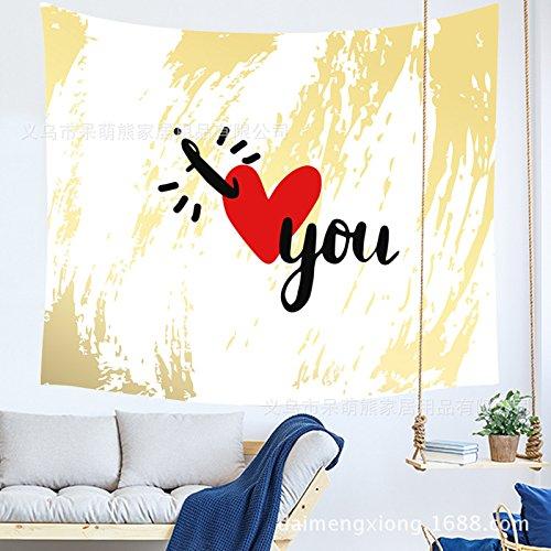 Liebe hängen Tuch Zimmer schlafsaal Dekoration malerei Tapisserie n 200 * 150 cm