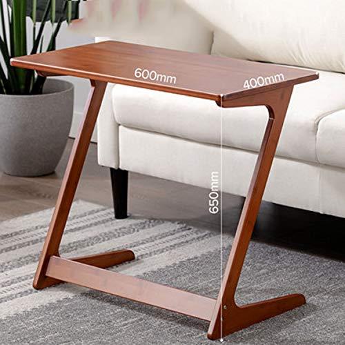 WEWE Sofa Tisch-endtisch,tv Fach Mit-Form Snack Laptop Schreibtisch Nacht Stand Couch Beistelltisch Für Essen Arbeiten Schreiben Bambus-d 60x40cm(24x16inch)