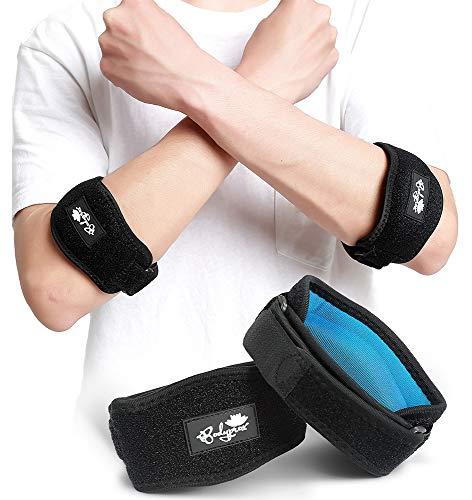 Ellenbogen-Bandage zur Schmerzlinderung von Tennis- und Golferellenbogen, 2 Stück