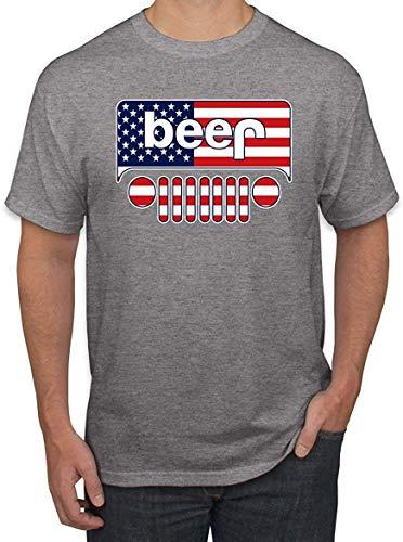 Bier Logo   PKW und LKW Parodie Alkohol   Mens Drinking Tee Grafik T-Shirt L.