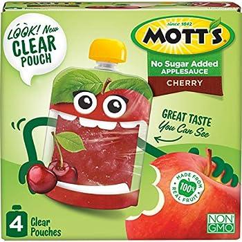 24-Pack Mott's No Sugar Added Cherry Applesauce, 3.2 Ounce