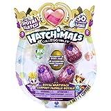 Hatchimals 6047212 - CollEGGtibles Royal Multipack mit 4 Hatchimals und Zubehörteilen, 2 Design - Varianten möglich