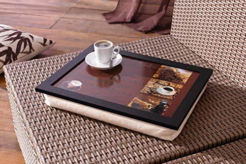 """Dekoleidenschaft -  Knie-Tablett""""Kaffee"""""""