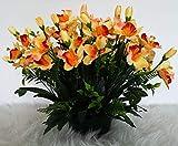 roselynexpress Composition de Fleurs artificielles, lesté Ciment pour Une très Bonne Tenue à l' extérieur vu Son Poids. Réalisé par nos Soins, Les Fleurs sont Aussi de très Bonne qualité.