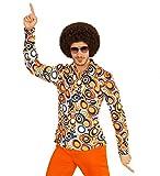 Camicia retrò anni '70 con e senza motivo, da discoteca, per uomo