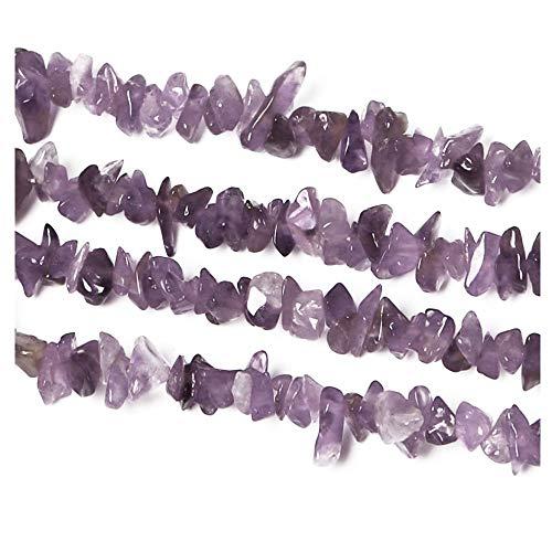 Amethyst Chips Perlen Kristallkies Mit Löchern Kristallkies Rocks Aquarium Dekoration Kies Sukkulenten dekorativer Kies Hausgarten Dekoration Kies Trommelsteine poliert getrommelt Kies lila(85 cm)