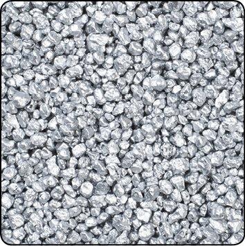 Season Dekogranulat 1 kg Granulat Streudeko Farbgranulat Dekosteine Dekokies (Silber)