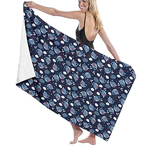 Badhanddukar Tvättdukar Nya Narwhals molnhanddukar, ultramjuk dusch och badhandduk Extra stor högabsorberande handduk